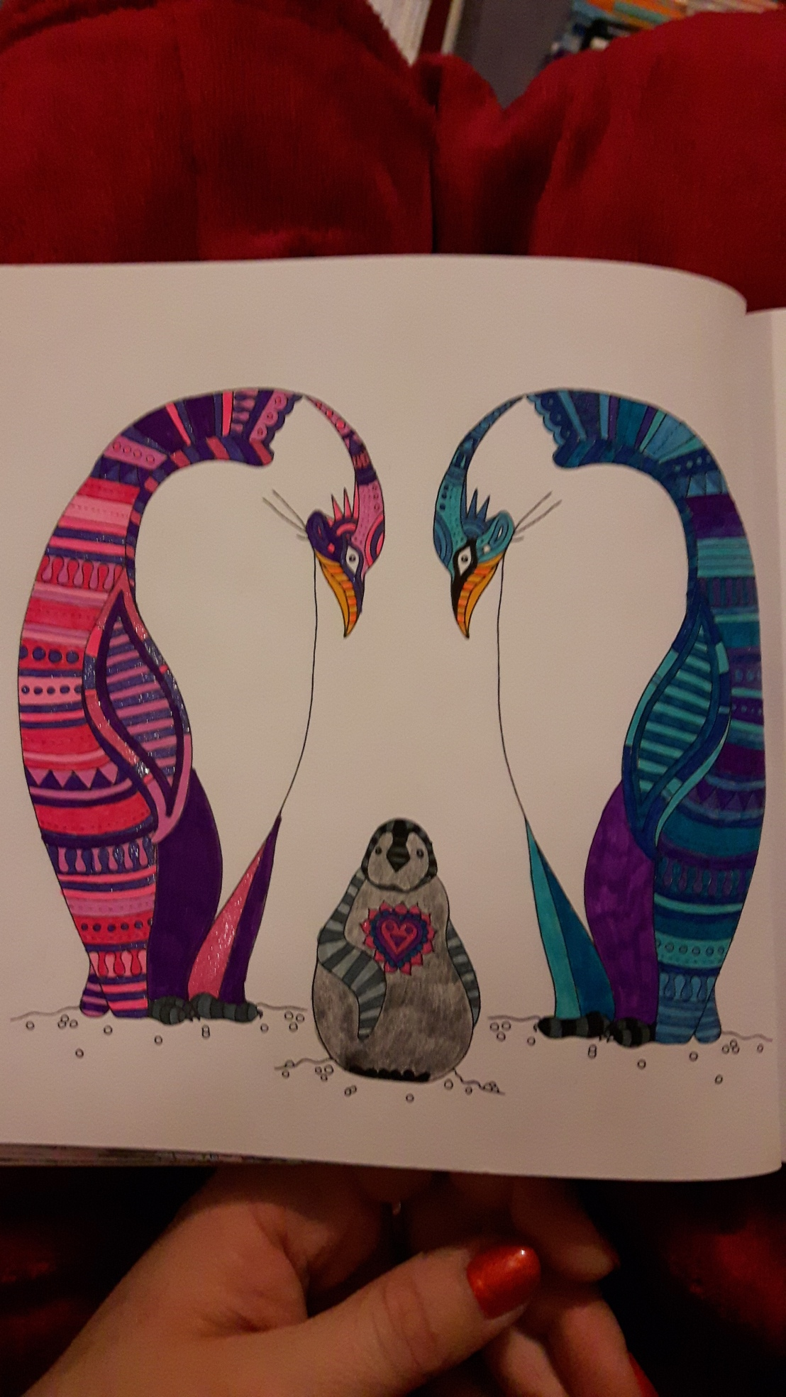 The penguins look a bit funny round here this week (On calming colouring)